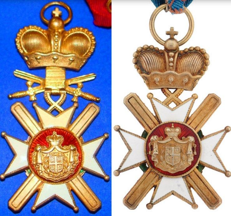 Order of the Cross of Takovo with Swords (1883 - 1903)