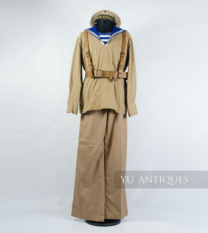 Yugoslav Peoples Army Official Summer Uniform of a Sailor