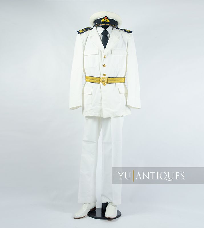 Yugoslav Peoples Army JNA Navy Formal Summer Uniform of Active Military Personnel